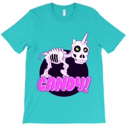 Halloween Candy Uniskull T-shirt Designed By Tiococacola