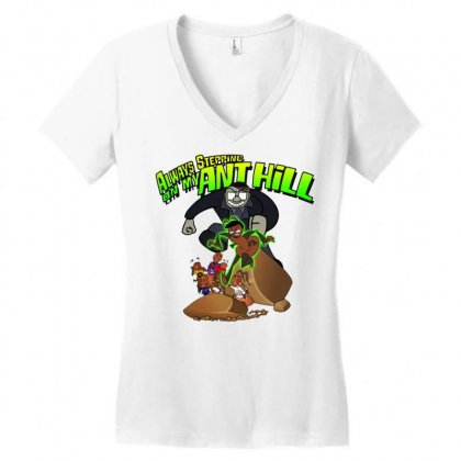 Ant Bully Women's V-neck T-shirt Designed By Pinkanzee