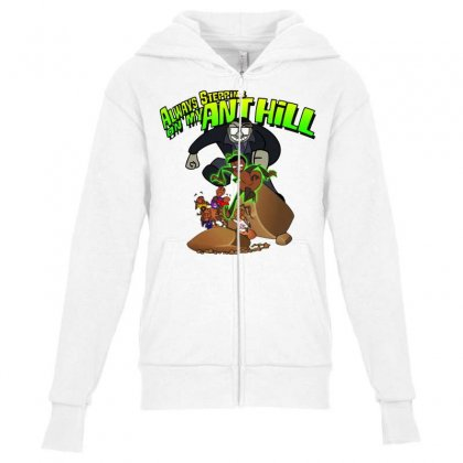 Ant Bully Youth Zipper Hoodie Designed By Pinkanzee