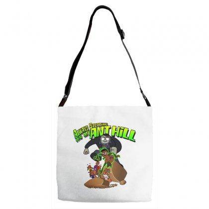 Ant Bully Adjustable Strap Totes Designed By Pinkanzee