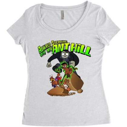 Ant Bully Women's Triblend Scoop T-shirt Designed By Pinkanzee
