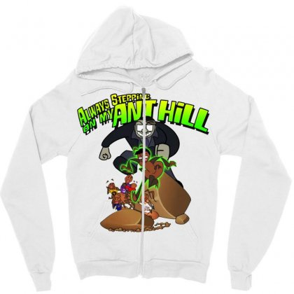 Ant Bully Zipper Hoodie Designed By Pinkanzee