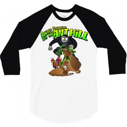 Ant Bully 3/4 Sleeve Shirt Designed By Pinkanzee