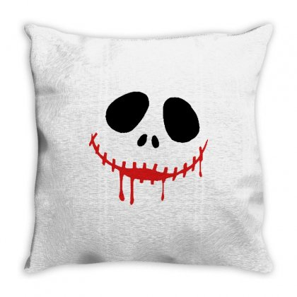 Bad Clown Throw Pillow Designed By Pinkanzee