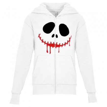 Bad Clown Youth Zipper Hoodie Designed By Pinkanzee