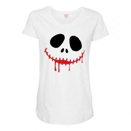 Bad Clown Maternity Scoop Neck T-shirt Designed By Pinkanzee