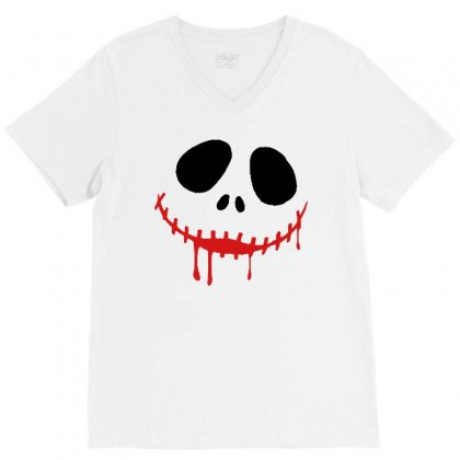 Bad Clown V-neck Tee Designed By Pinkanzee