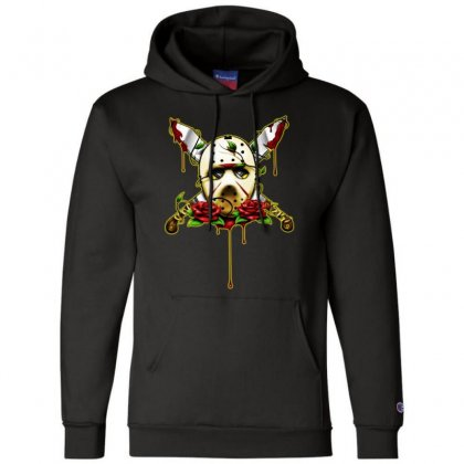Halloween Horror Champion Hoodie Designed By Pinkanzee