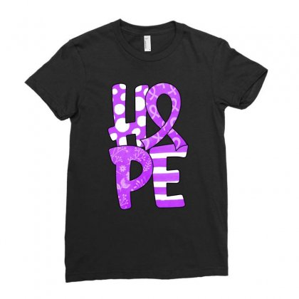 Hope Watercolor Pancreatic Cancer Ladies Fitted T-shirt Designed By Honeysuckle
