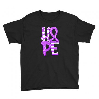 Hope Watercolor Pancreatic Cancer Youth Tee Designed By Honeysuckle