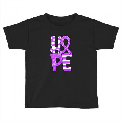 Hope Watercolor Pancreatic Cancer Toddler T-shirt Designed By Honeysuckle