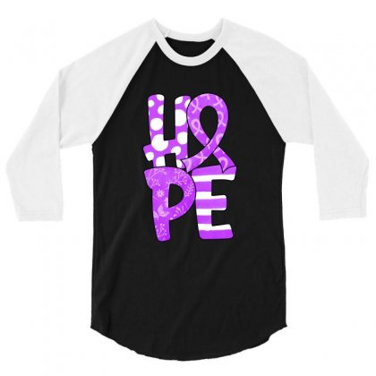 Hope Watercolor Pancreatic Cancer 3/4 Sleeve Shirt Designed By Honeysuckle