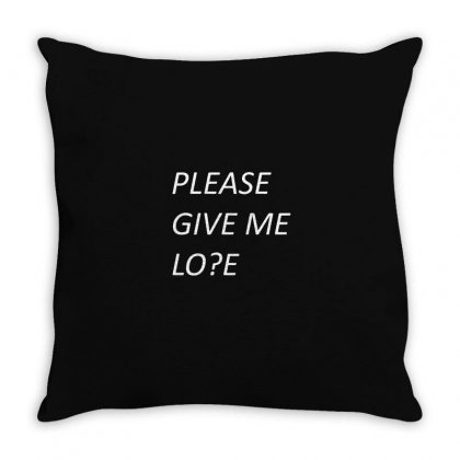 Please Give Me Love Throw Pillow Designed By Mdk Art
