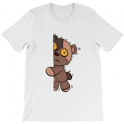 Zombie Bear Fear Expression T-shirt Designed By Fun Tees