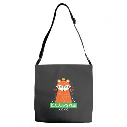 Foxy Kitsune Fox Adjustable Strap Totes Designed By Andr1