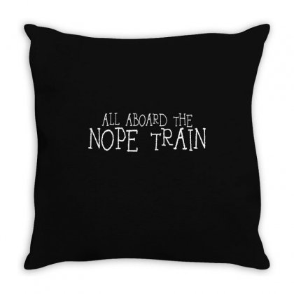 All Aboard The Throw Pillow Designed By Mdk Art