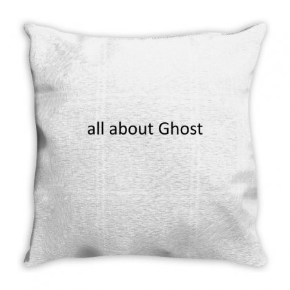 All About Ghost Throw Pillow Designed By Mdk Art