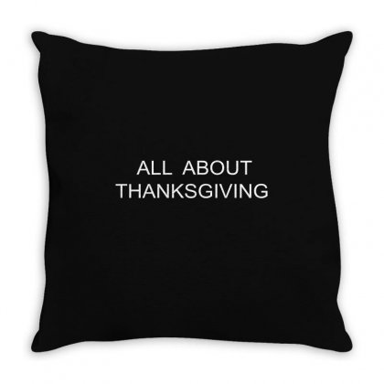 All About Thanksgiving Throw Pillow Designed By Mdk Art