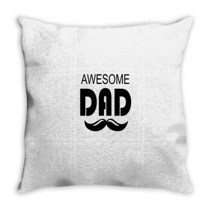 Awesome Dad Throw Pillow Designed By Mdk Art