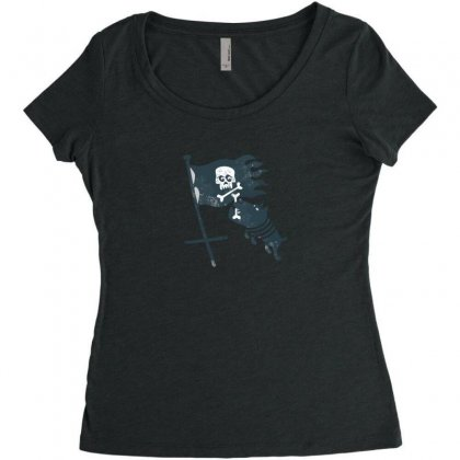 Jolli Roger Women's Triblend Scoop T-shirt Designed By Andr1
