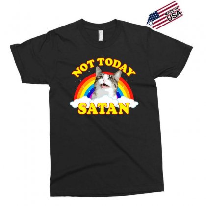 Not Today Satan! - Roger The Cat, Death Metal Rainbow Smiles Exclusive T-shirt Designed By Omer Acar