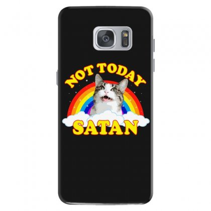 Not Today Satan! - Roger The Cat, Death Metal Rainbow Smiles Samsung Galaxy S7 Case Designed By Omer Acar