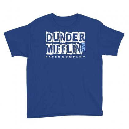 Dunder Mifflin The Office Logo Youth Tee Designed By Fashionartis69