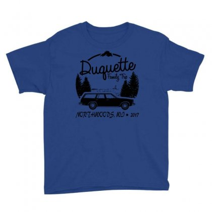 Duquette Family Vacation 2017   White Ink Youth Tee Designed By Fashionartis69
