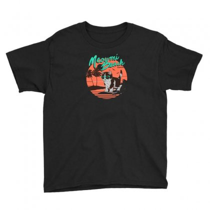 Meowmi Beach Youth Tee Designed By Andr1