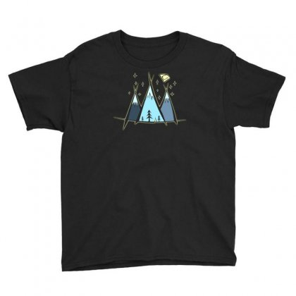 Mountain Camp Youth Tee Designed By Andr1