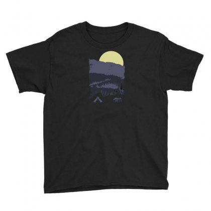 Mountains And Bear Camp Youth Tee Designed By Andr1