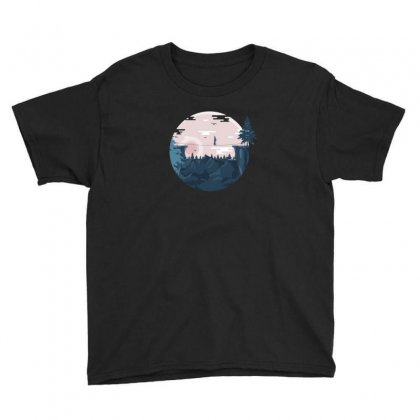 Mountains Fun Youth Tee Designed By Andr1