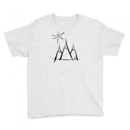 Mountains Youth Tee Designed By Andr1