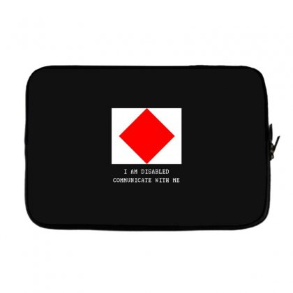 Nautical But Nice   Foxtrot Laptop Sleeve Designed By Andr1