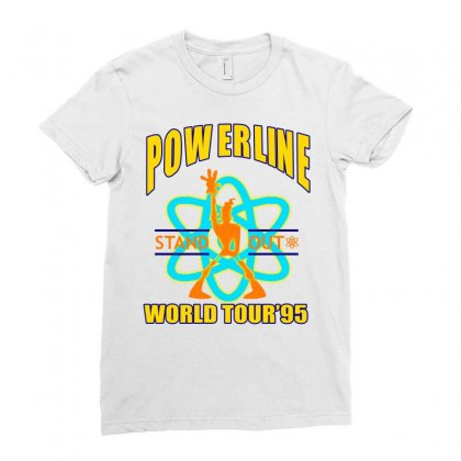 Powerline Stand Out World Tour '95 Ladies Fitted T-shirt Designed By Jetspeed001