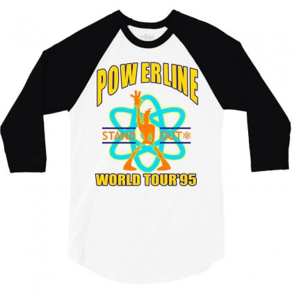 Powerline Stand Out World Tour '95 3/4 Sleeve Shirt Designed By Jetspeed001