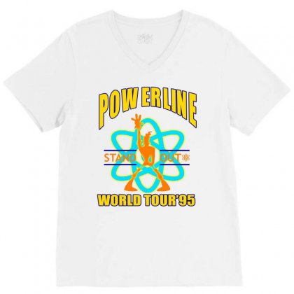 Powerline Stand Out World Tour '95 V-neck Tee Designed By Jetspeed001