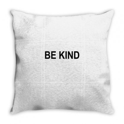 Be Kind Throw Pillow Designed By Mdk Art