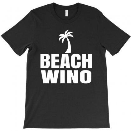 Beach Wino T-shirt Designed By Mdk Art