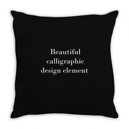 Beautiful Calligraphic Design Element Throw Pillow Designed By Mdk Art