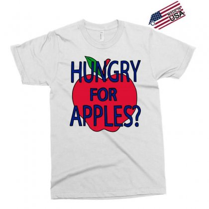 Hungry For Apples Black Exclusive T-shirt Designed By Fashionartis69