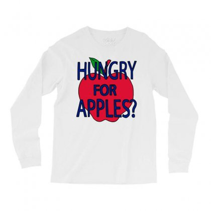 Hungry For Apples Black Long Sleeve Shirts Designed By Fashionartis69
