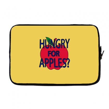 Hungry For Apples Black Laptop Sleeve Designed By Fashionartis69