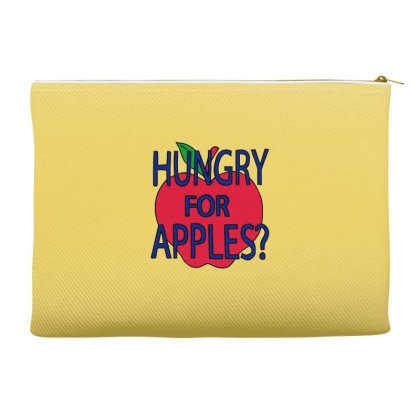 Hungry For Apples Black Accessory Pouches Designed By Fashionartis69