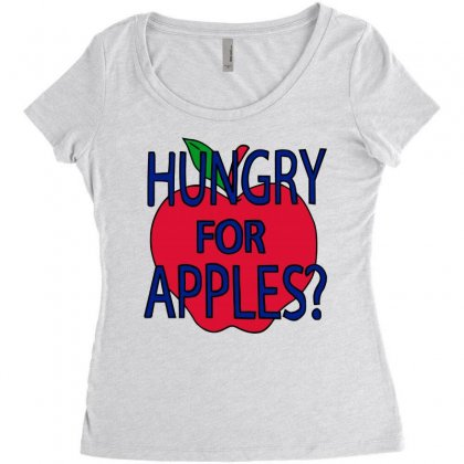 Hungry For Apples Black Women's Triblend Scoop T-shirt Designed By Fashionartis69
