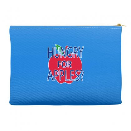 Hungry For Apples White Accessory Pouches Designed By Fashionartis69