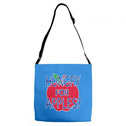 Hungry For Apples White Adjustable Strap Totes Designed By Fashionartis69
