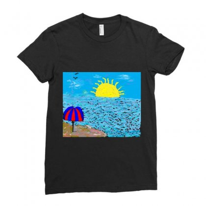 Parasol Ladies Fitted T-shirt Designed By Nad