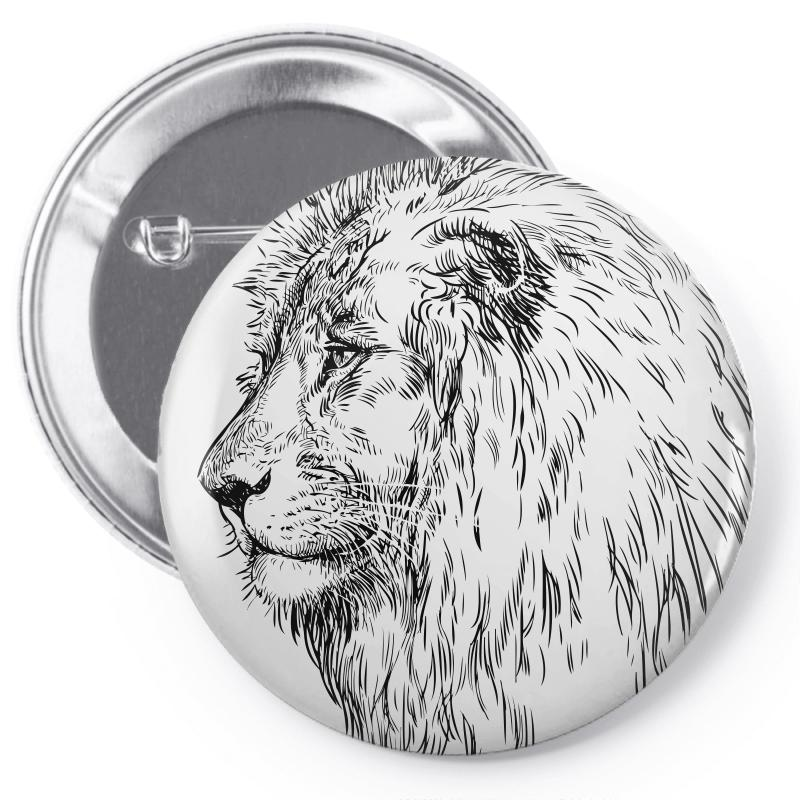 Lion Pin-back Button | Artistshot