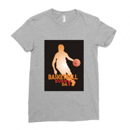 Basketball Ladies Fitted T-shirt Designed By Xprime